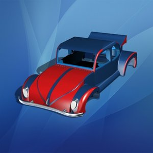 toy car body 3d obj