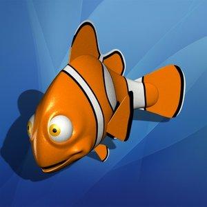 toy clownfish fish 3d model