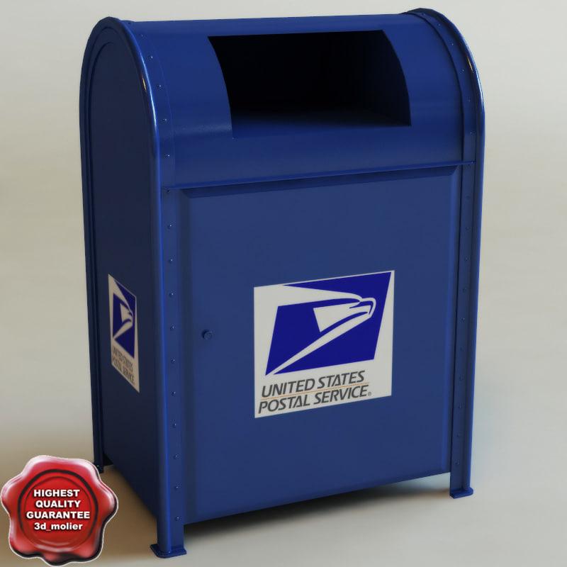 3d mailbox modelled drop