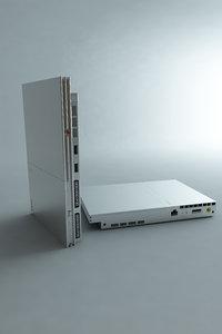 ps2 slim 3d model