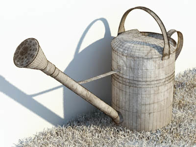 watering-can water 3d max