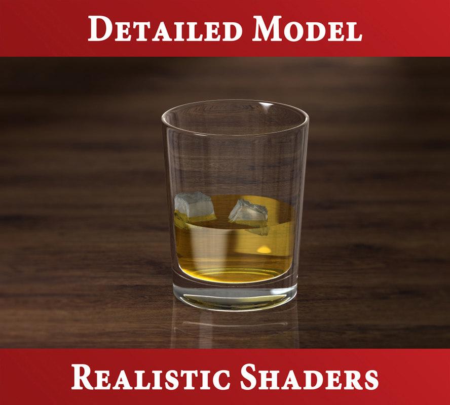 3d model whisky glass
