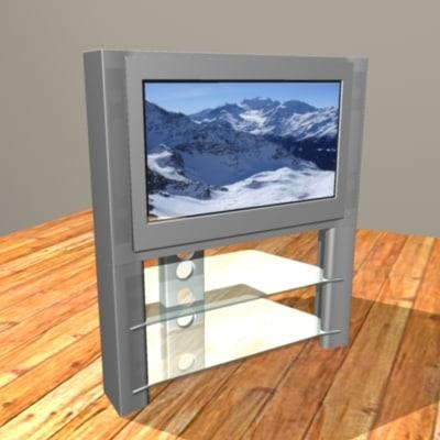 widescreen tv stand screen 3d model