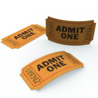 3d model ticket stub