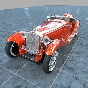 3ds max alpha romeo spider 1932