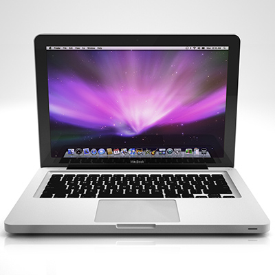 3d apple macbook led model