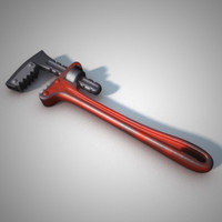 3d model stylized adjustable wrench