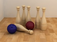 3ds max bowling set