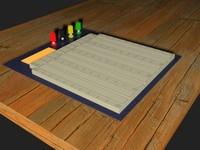 electronics breadboard 3d model