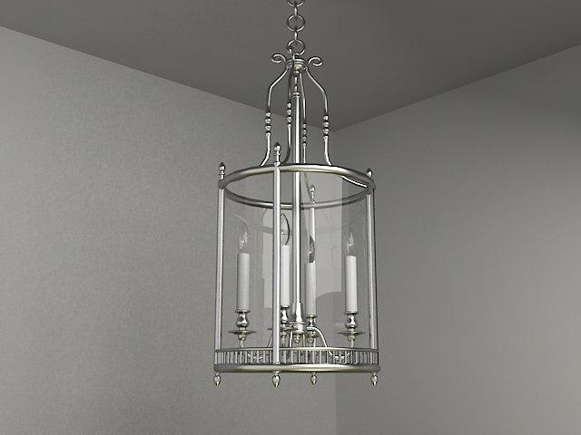3d classic chandelier lighting model