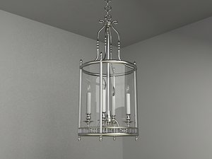 3d classic chandelier lighting model