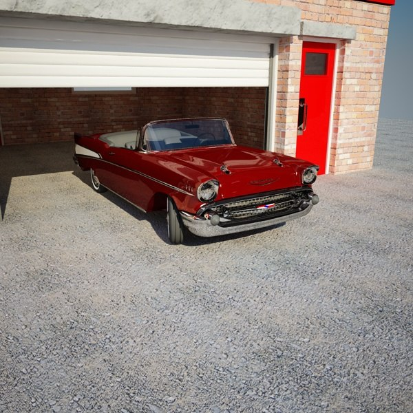 3ds max 57 chevvy garage