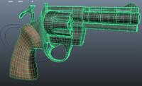 revolver 38 colt 3d model