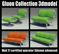 gluon sofa 3d model
