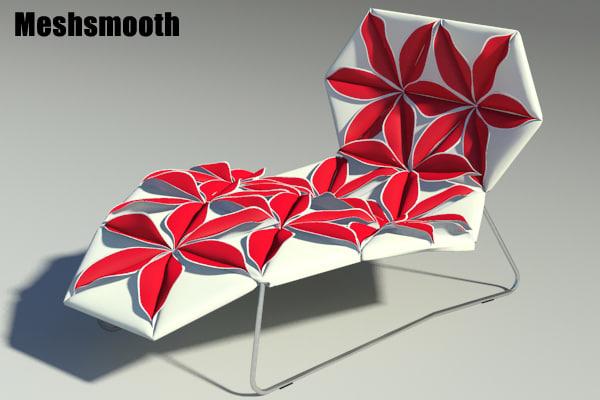 3ds max antibodi desck chair flower