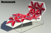 3ds max antibodi desck chair flower
