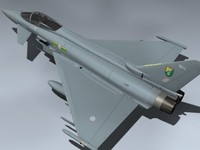 3d eurofighter typhoon raf