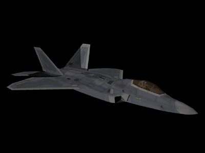 f-22 polygons fighter 3ds