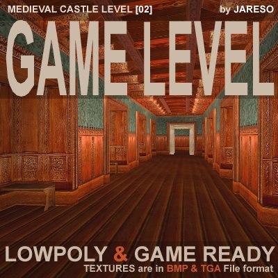 level medieval castle - 3d model