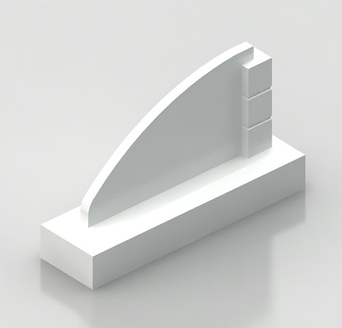 3d monument sign model
