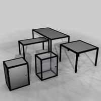 3d model furniture group office