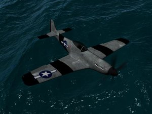 p51 fighter plane 3d 3ds