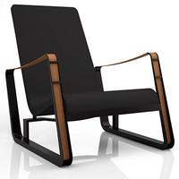 3dsmax prouvé cité lounge chair