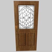 Wood Door with glass 2
