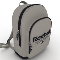 reebok bag 3d model