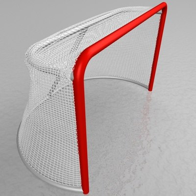 hockey goal netting mesh 3d model