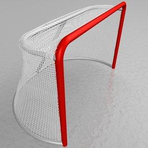 hockey goal netting mesh 3d model