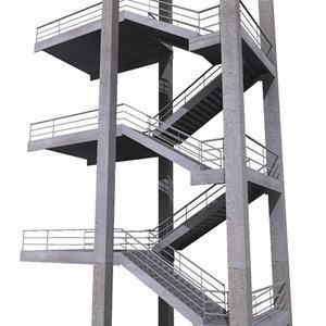 3d external staircase
