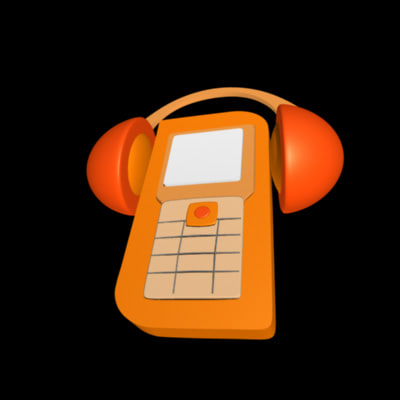 3d animate cellular phone music