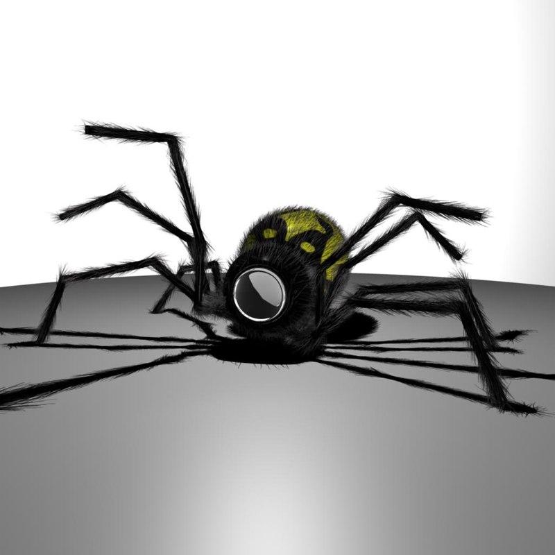 spider surveillance robot 3d model