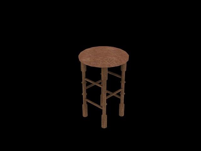 stool kitchen 3d max