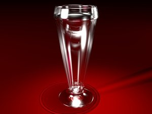 3d model of tall beer glass
