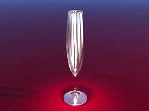 3ds tall wine glass