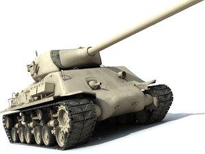 m51 sherman 3d model