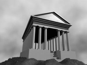 3ds max greek temple