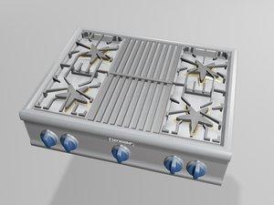 thermador home cooktop 3d max