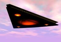 3d triangle ufo model