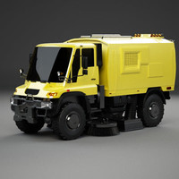 3ds max sweeper truck