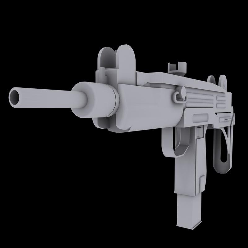 3d model uzi