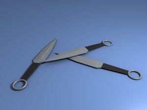 3d model of throwing dagger