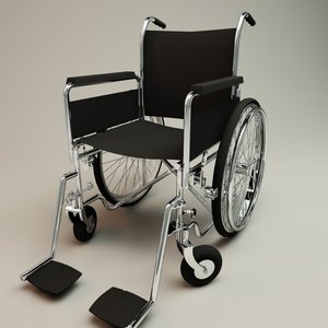 3d model wheel chair
