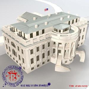 3d model white house