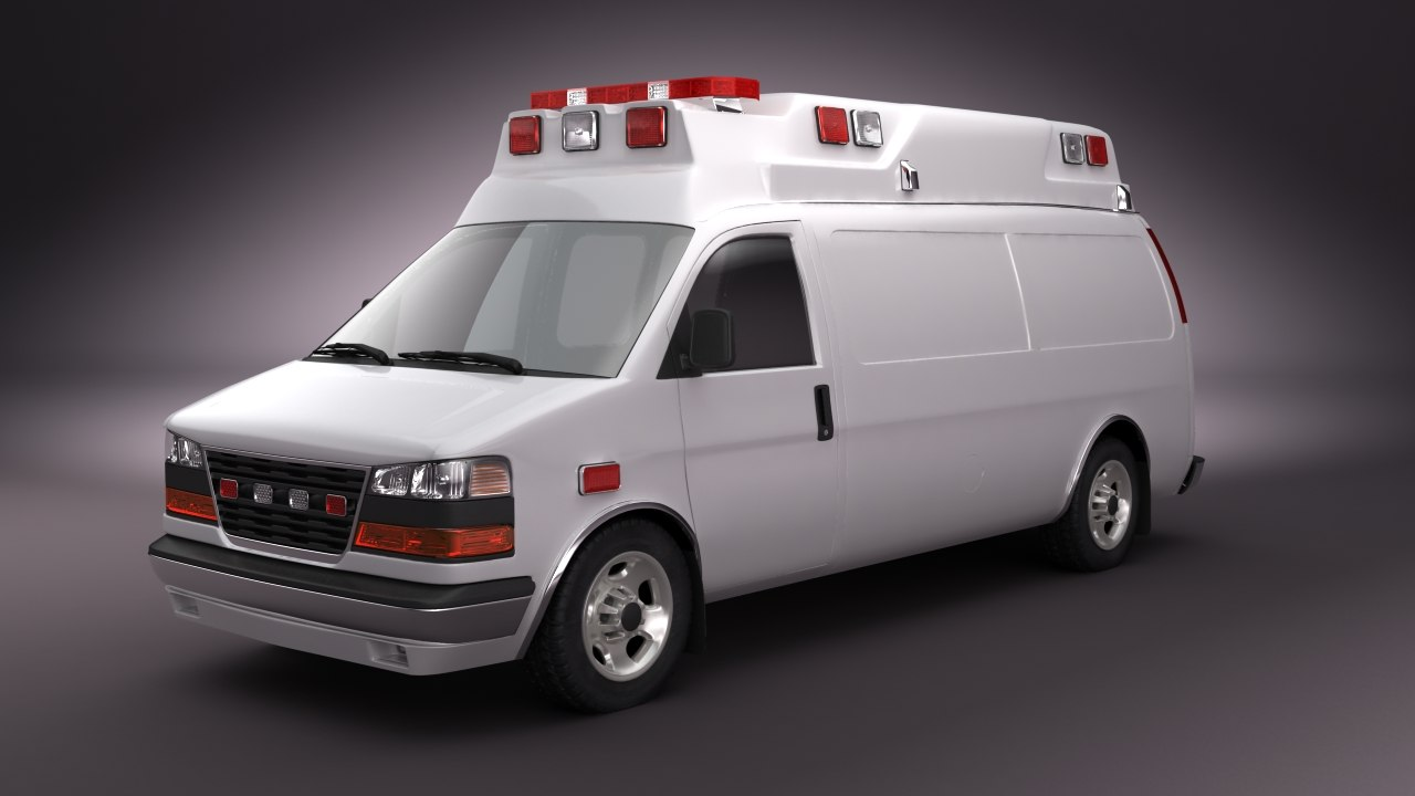 emergency ambulance 3d max