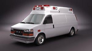 emergency ambulance 3d max