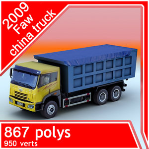 3d model 2009 faw china truck