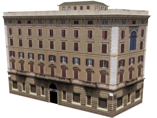 beautiful european apartments 3d model